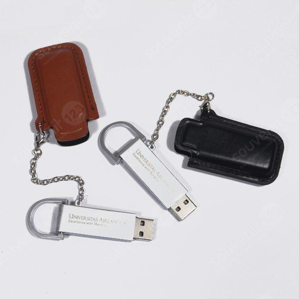 USB Leather Button FDLT03 (tersedia USB 2.0 dan USB 3.0)
