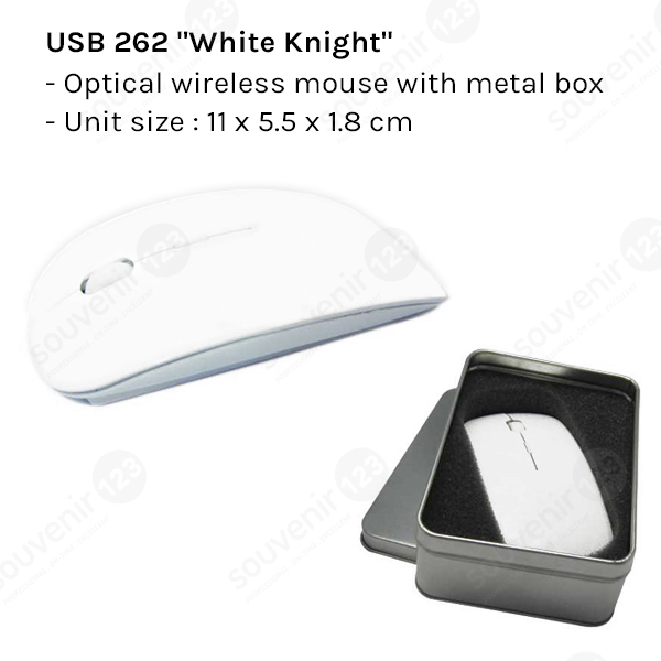 White Knight Optical Wireless Mouse