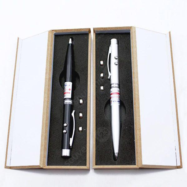 Pulpen Laser 3 in 1 Kotak Kayu