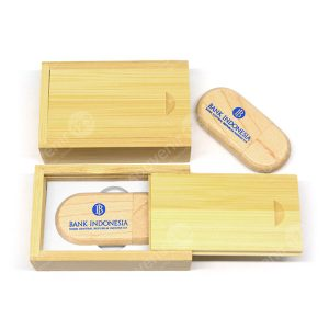 USB Wood Oval Tutup