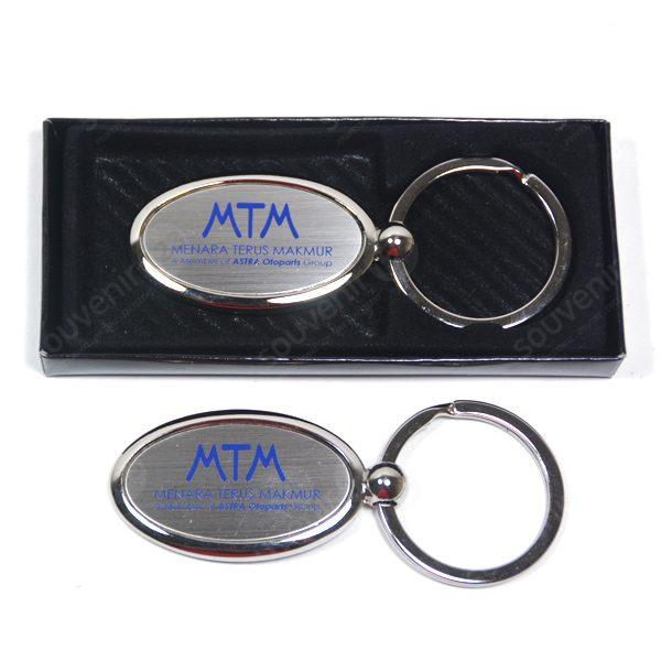 Gantungan Kunci Stainless Oval