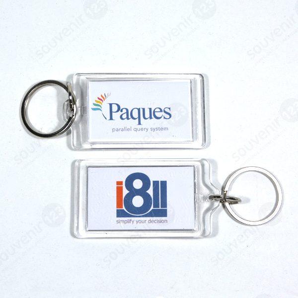Gantungan Kunci Acrylic Insert Kertas