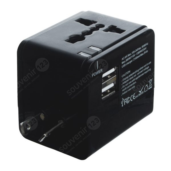 Universal Travel Adaptor Kotak USB Charger UAR03