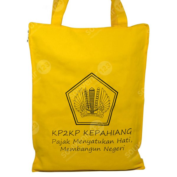 Goodie Bag Kanvas + Lapisan Dalam + Resleting