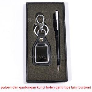 Gift Set Pulpen + Gantungan Kunci (Custom)
