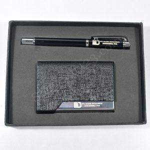 Gift Set Pulpen + Tempat Kartu Nama (Custom)