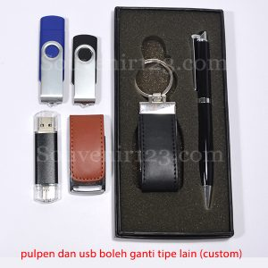 Gift Set Pulpen + USB (Custom)