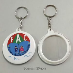 Gantungan Kunci Pin Cermin 5.8cm