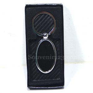 Gantungan Kunci Stainless Oval GLS02