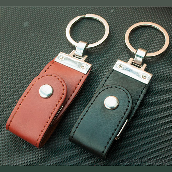 USB Kulit Gantungan Kunci FDLT27 (tersedia USB 2.0 dan USB 3.0)