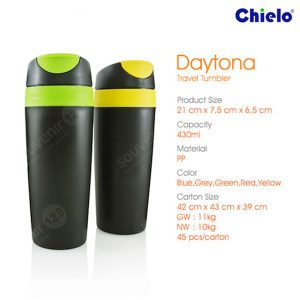 Daytona Black Travel Tumbler