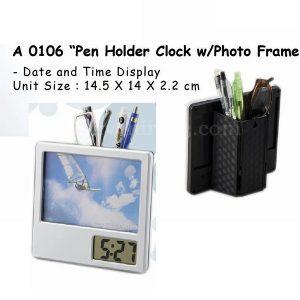 Pen Holder Jam + Frame Foto A0106