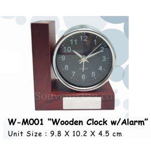 Jam Kayu Alarm WM001