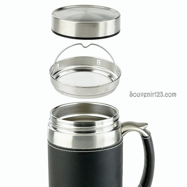 Shuma S/S Vacuum Mug BG 600ml Leather SHBG0600