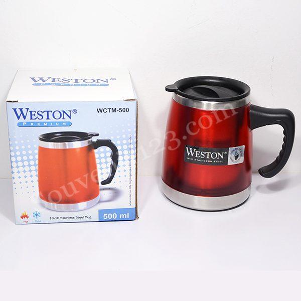 Weston Colour Travel Mug + Cover 500ml WCTM-500
