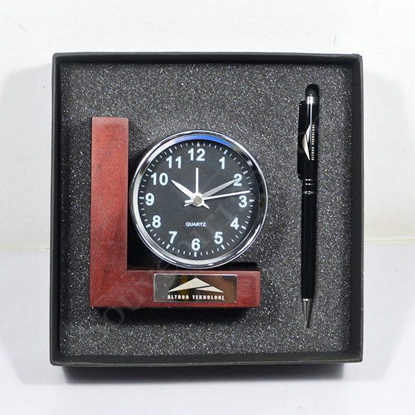 Gift Set Jam Meja + Pulpen (Custom)