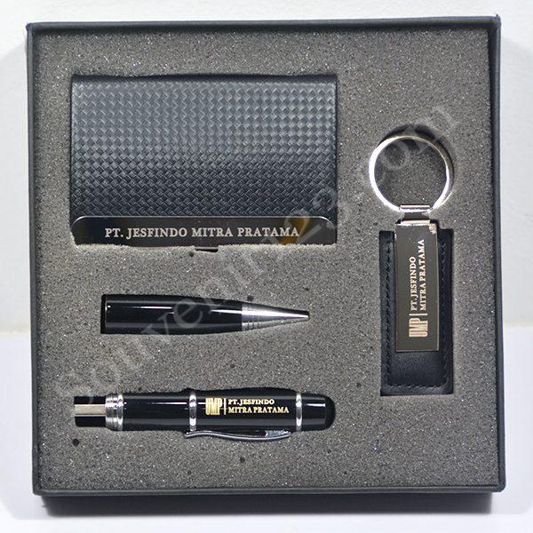 Gift Set USB Pen + Gantungan Kunci + Tempat Kartu Nama (Custom)