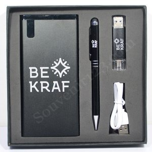 Gift Set Power Bank + USB + Pulpen (Custom)