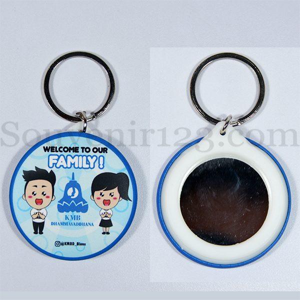 Gantungan Kunci Pin Cermin 4.4cm