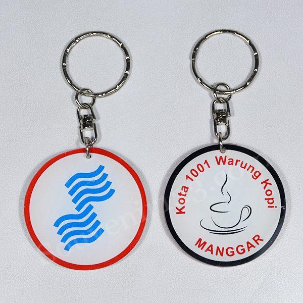 Gantungan Kunci Acrylic Sablon Custom