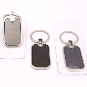 Gantungan Kunci Stainless Persegi 2 sisi GLS04