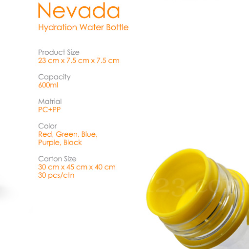 Nevada Hydration Water Bottle