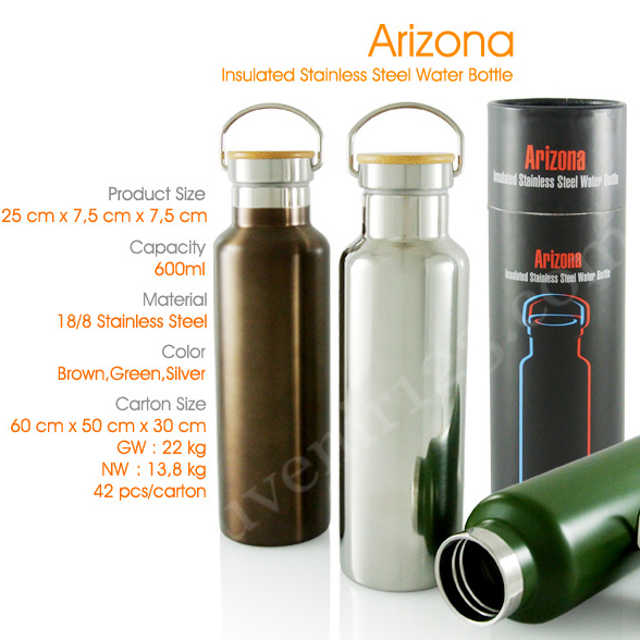 Arizona Insulated Stainless Steel Water Bottle