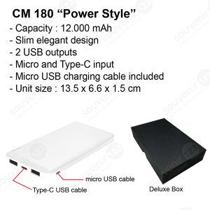 Powerbank Power Style 12000mAh CM180