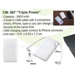 Powerbank Triple Power 5600mAh CM887