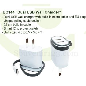 Wall Charger Dual USB UC144