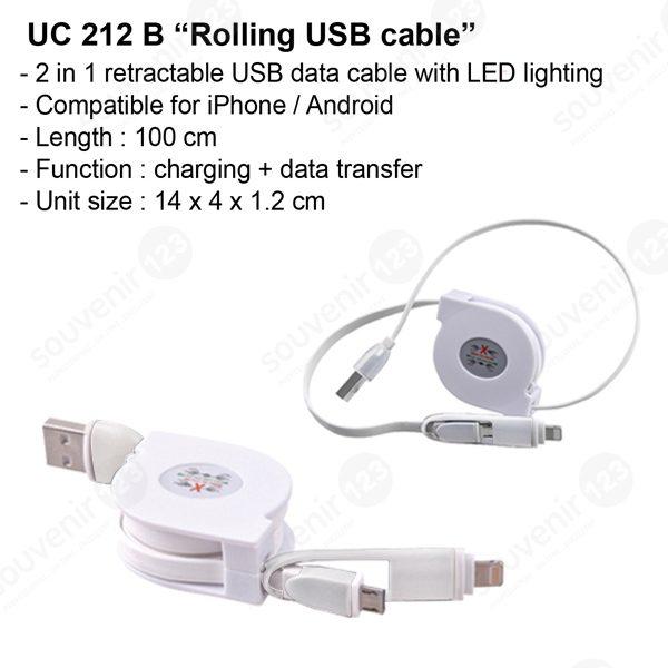 Kabel USB Rolling UC212B