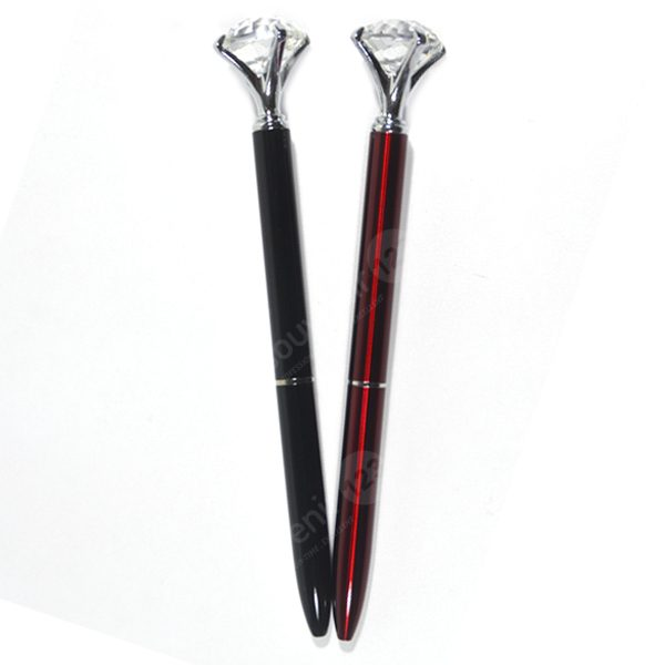 Pulpen Metal Batu Crystal