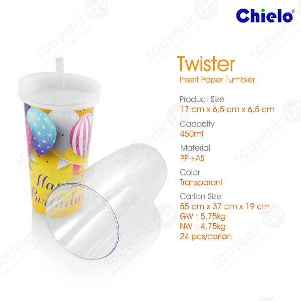 Twister Insert Paper Tumbler
