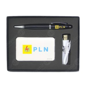 Gift Set Powerbank + USB Pen (Custom)