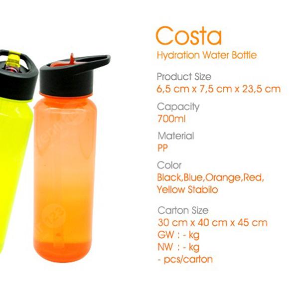 Costa Hydration Water Bottle